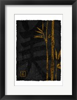 Framed Black Gold Bamboo 1