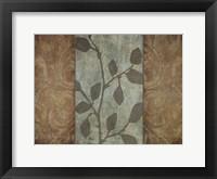 RUSTIC LEAVES II Framed Print