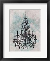 Chandelier  Splash Of Blue 1 Framed Print