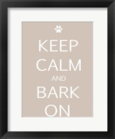 Framed Keep Calm Dog