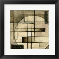 Brown Circle Box 2 Framed Print