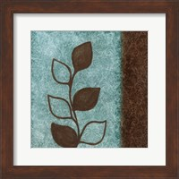 Framed Brown Leaves Square Right