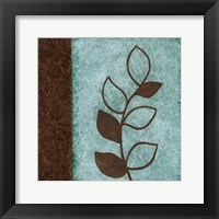 Framed Brown Leaves Square Left
