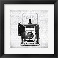 Framed Vintage Camera
