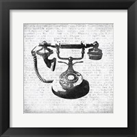 Framed Vintage Phone