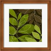 Framed Green Brown Leaves 2