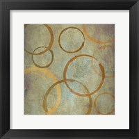 Vintage Circles 2 Framed Print