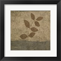 Vintage Leaves 1 Framed Print