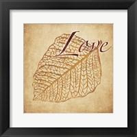 Red Gold Love Framed Print