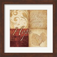 Framed Red Gold Hope III