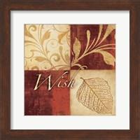 Framed Red Gold Wish