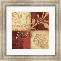 Framed Red Gold Wish