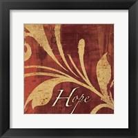 Red Gold Hope Framed Print