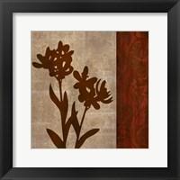 Framed Wine Iris 2