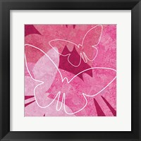 Framed Butterflys Pink 1