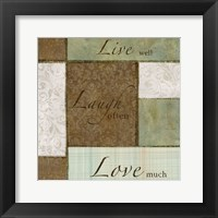 Framed Live-Laugh Love