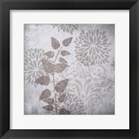 Warm Gray Flowers 2 Framed Print