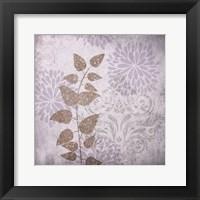 Warm Gray Flowers Framed Print