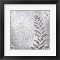 Warm Grey Flowers 6 Framed Print