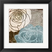 Framed Beige Rose