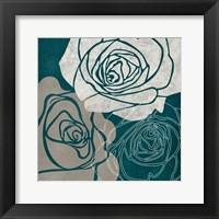 Framed Gray Rose
