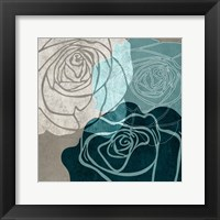 Framed Navy Rose