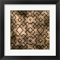 Framed Black on Beige Pattern