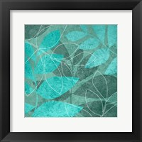 Framed Seafoam Leaves 1
