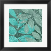 Framed Seafoam Leaves 2