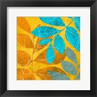 Aqua Leaves 2 Framed Print
