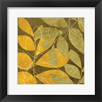 Yellow Brown Leaves 2 Framed Print