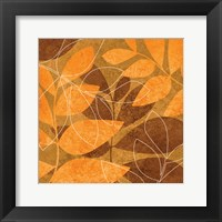 Framed Orange Leaves 1