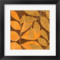 Framed Orange Leaves 2
