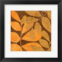 Orange Leaves 2 Framed Print