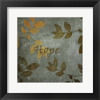Framed Hope Leaves