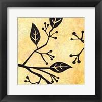 Framed Birds&Leaves B&G 1