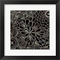 Framed Stencil Floral III