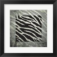 Animal Instinct Zebra Framed Print
