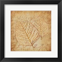Framed Gold Leaves 1