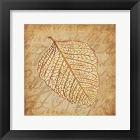 Framed Gold Leaves 2