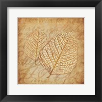 Framed Gold Leaves 3