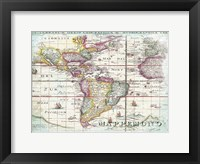 Framed World Map 7