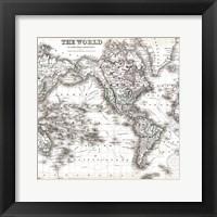 Framed World Map 1