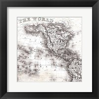 Framed World Map 4