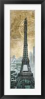 Framed Paris Map