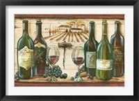 Framed Wooden Wine Landscape