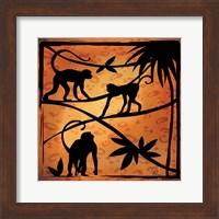 Framed Safari Silhouette II