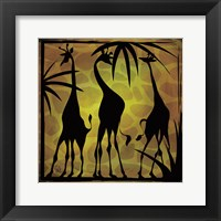 Framed Safari Silhouette III