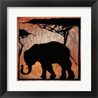 Framed Safari Silhouette IV