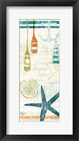 Framed Nautical Brights Panels I